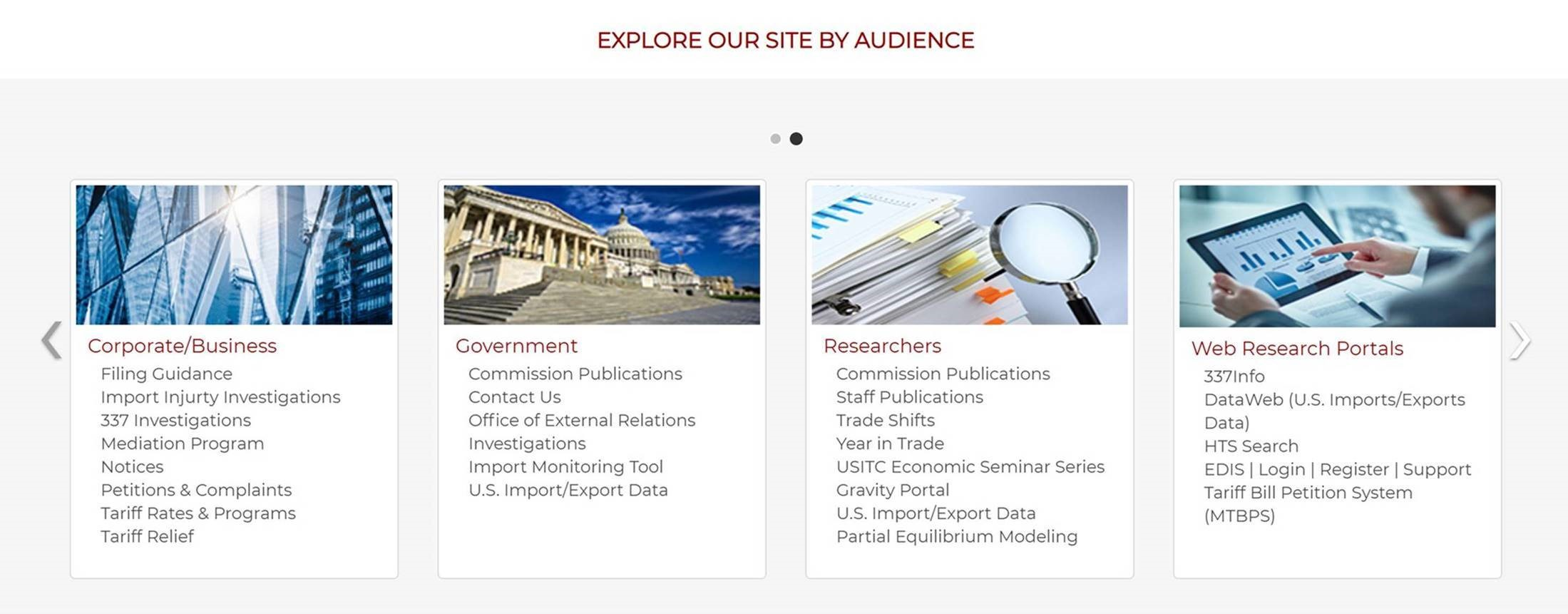 """Web Site Redesign Preview: New """"By Audience"""" Section 